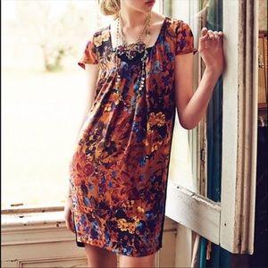 Anthropologie Maeve Pintura silk shift dress